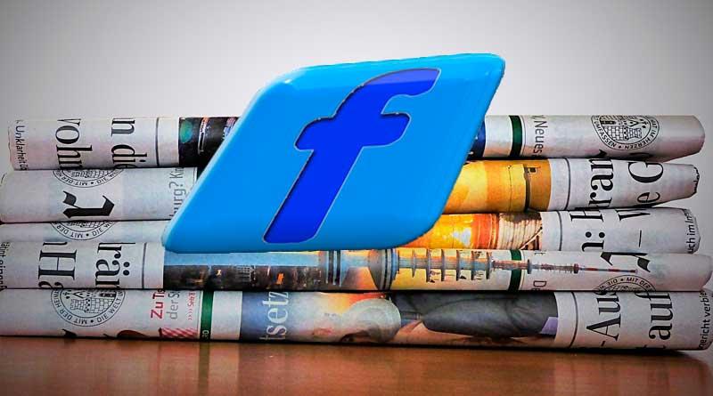 Zeitungen und Facebook Logo