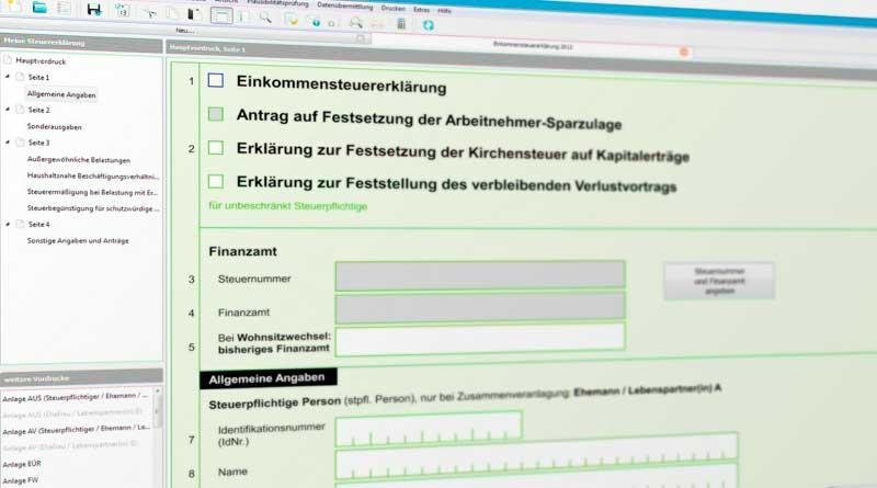 Online-Steuererklärung