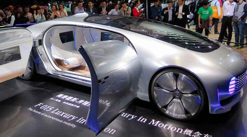 Prototyp eines futuristischen E-Autos