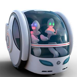 Robotergesteuertes Zukunftsauto