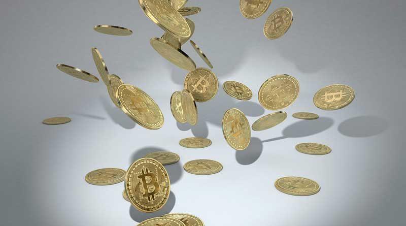 Bitcoin - fallende Münzen