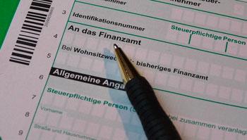 Steuerformular fürs Finanzamt