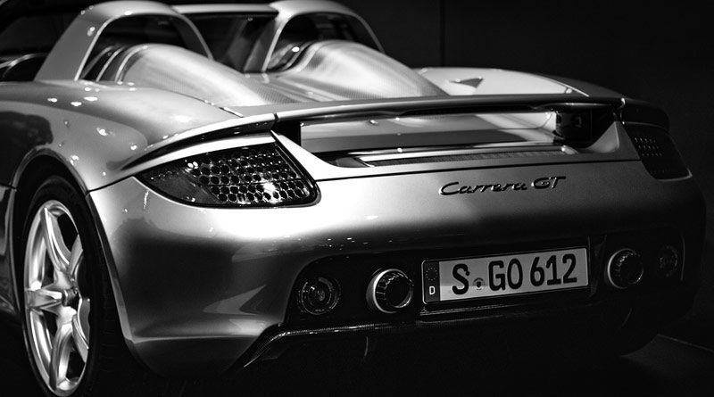 Heck eines Porsche