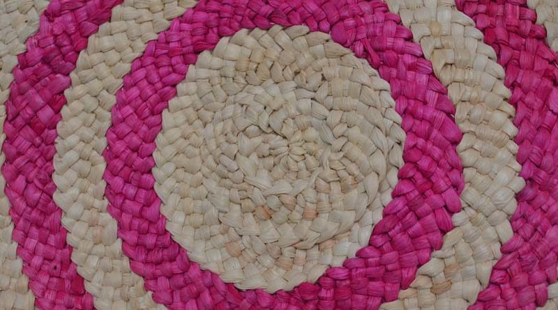 Nahaufnahme runder Teppich